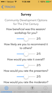 Conference App Post Sessin Survey
